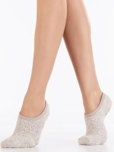 Короткие махровые однотонные женские носки
