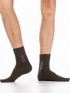 Теплые мужские носки с шерстью ангоры и узором ромбы