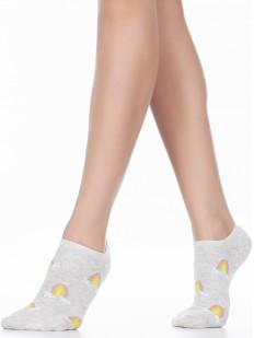 Короткие женские носки с радугой на облачке