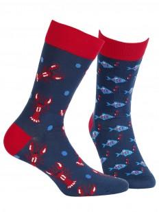 Прикольные цветные носки унисекс с морским принтом