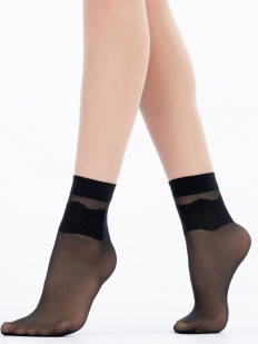 Детские прозрачные носочки из полиамида с этническим узором