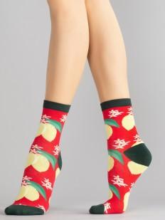 Цветные женские носки с лимонами