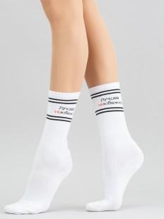 Высокие женские носки с надписью ЛУЧШЕЕ НЕИЗБЕЖНО