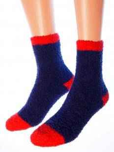 Махровые высокие женские новогодние носки