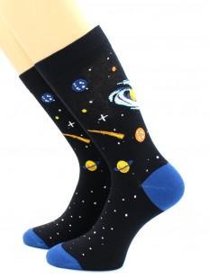 Высокие хлопковые носки с космическим принтом