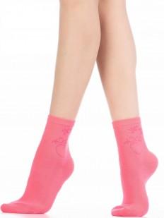 Цветные женские носки из хлопка с узором