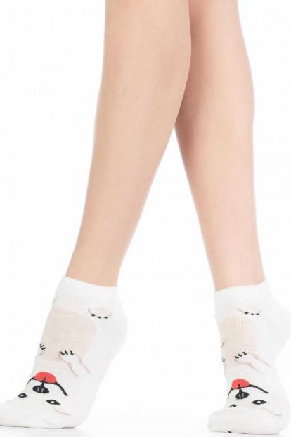 Хлопковые женские носки с собачками HOBBY LINE 409