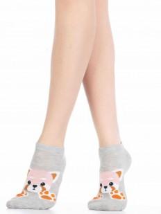 Хлопковые летние женские носки со зверюшками