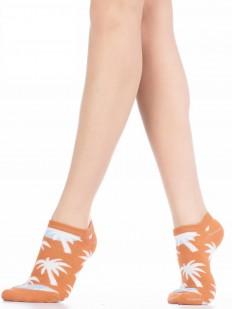Короткие хлопковые женские носки с пальмами