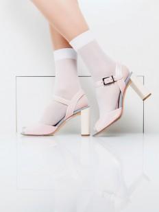 Женские носки в сеточку с эффектом тюля