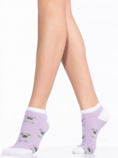 Укороченные женские носки с мопсами