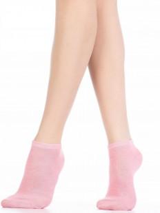 Женские хлопковые летние носки однотонные укороченные