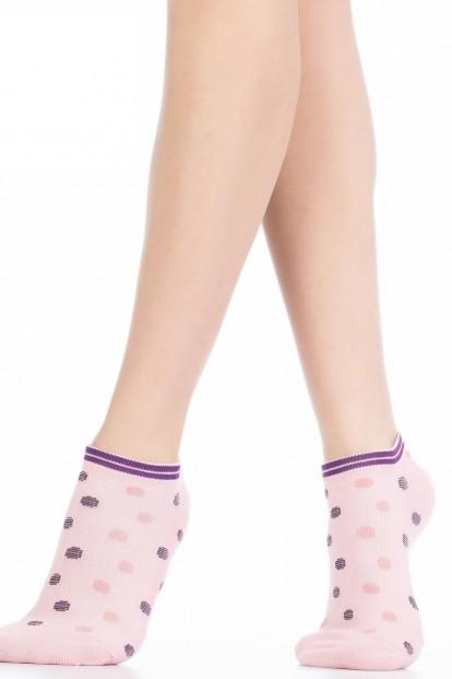 Женские хлопковые летние носки в горошек HOBBY LINE 559-3
