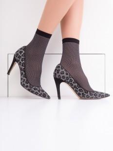 Женские носки с рисунком сетка
