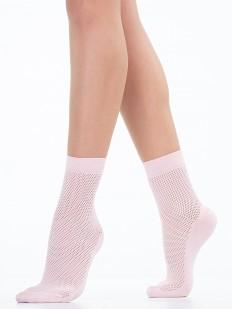 Женские цветные носки в сеточку
