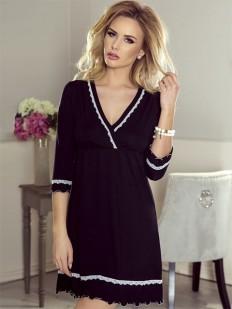 Короткая сорочка под платье с глубоким вырезом и рукавами Eldar Lea