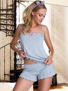 Летний трикотажный пижамный комплект с шортами из вискозы