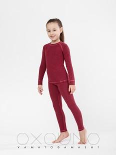 Детский бордовый термокомплект для девочек