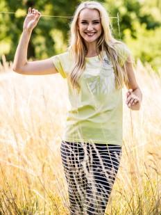 Женская хлопковая летняя пижама с бриджами в полоску KEY LNS