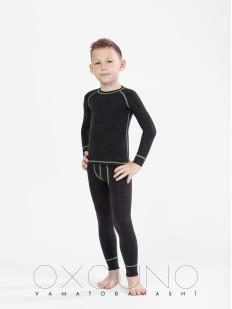Детский черный термокомплект белья для мальчиков