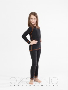 Детский черный термокомплект для девочек Oxouno 0101 Anka