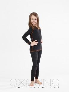 Детский черный термокомплект белья для девочек