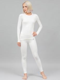 Белый женский комплект термобелья из вилофта