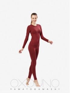 Бордовый женский термокомплект из вискозы