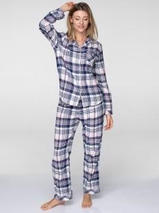 Женская хлопковая фланелевая пижама со штанами KEY LNS