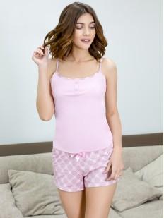 Женская летняя хлопковая пижама с шортами LEINLE