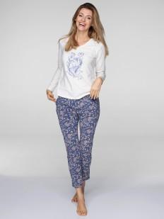 Женская хлопковая пижама большого размера со штанами