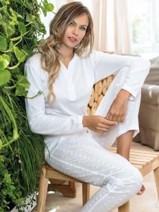 Хлопковая женская пижама с кофтой и брюками