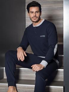 Мужская трикотажная пижама с брюками