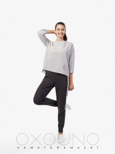 Домашний женский костюм из хлопка со штанами Oxouno FOOTER 02