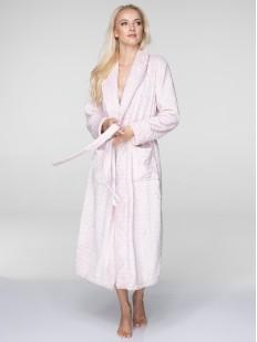 Длинный флисовый женский халат с воротником KEY LGL