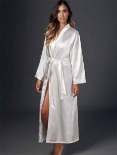 Женский атласный длинный халат кимоно