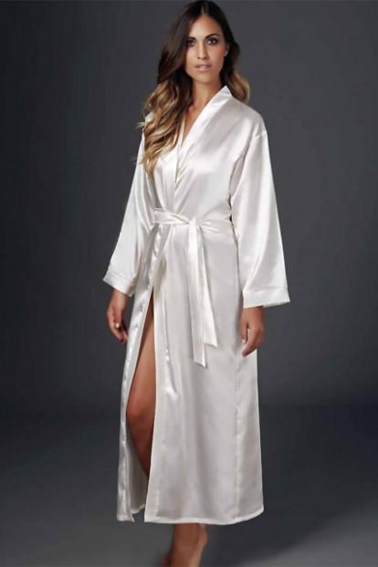 Женский атласный длинный халат кимоно Andra Shape KIMONO 441