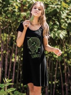 Женское летнее домашнее платье из вискозы с яблочком