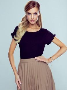 Женская элегантная футболка с оборками на рукавах
