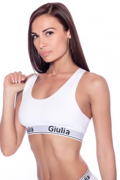 Спортивный женский хлопковый топ со спинкой борцовкой GIULIA Cotton bra 01 var b