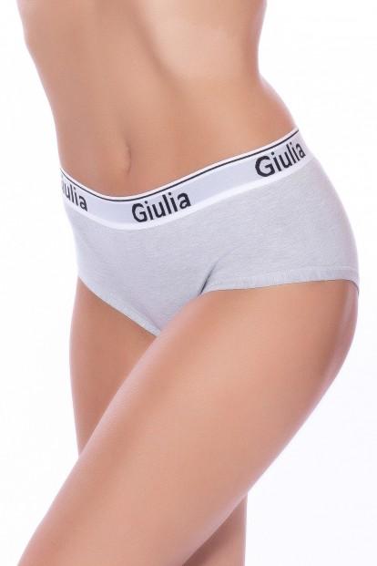 Женские хлопковые спортивные трусы слипы с высокой талией GIULIA Cotton culotte 01 var b