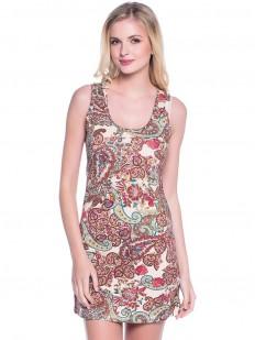 Женское хлопковое летнее платье с принтом