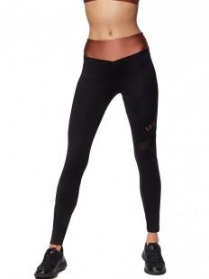 Спортивные женские легинсы для фитнеса с атласным поясом