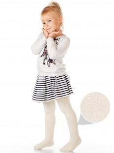 Детские колготки с махрой и цветочками для девочек 2-6 лет