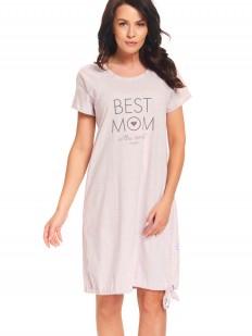 Розовая хлопковая сорочка для кормящих мам и в роддом