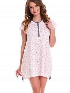 Розовая сорочка в роддом с регулируемыми подолом для беременных и кормящих