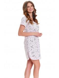 Женская сорочка на пуговицах для беременных и кормящих с принтом