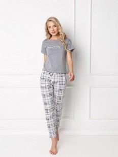 Хлопковая пижама Aruelle Belle grey