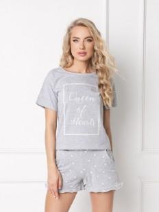 Хлопковая пижама ARUELLE Hearty grey