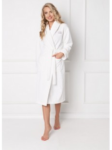 Теплый халат ARUELLE Kate white